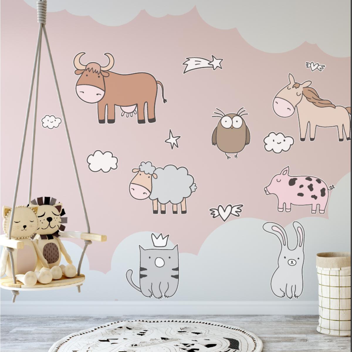 Cow Farmyard Animals Wall Sticker WS-32680