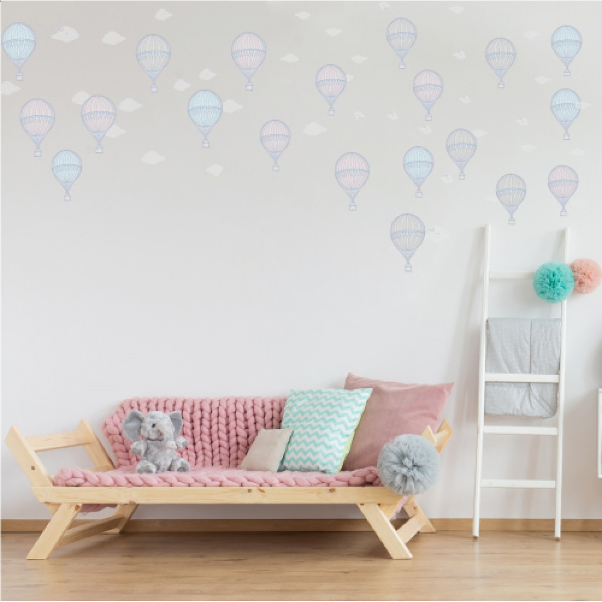 Hot Air Balloon Removeable Wall Decal Proudly Made In Nz